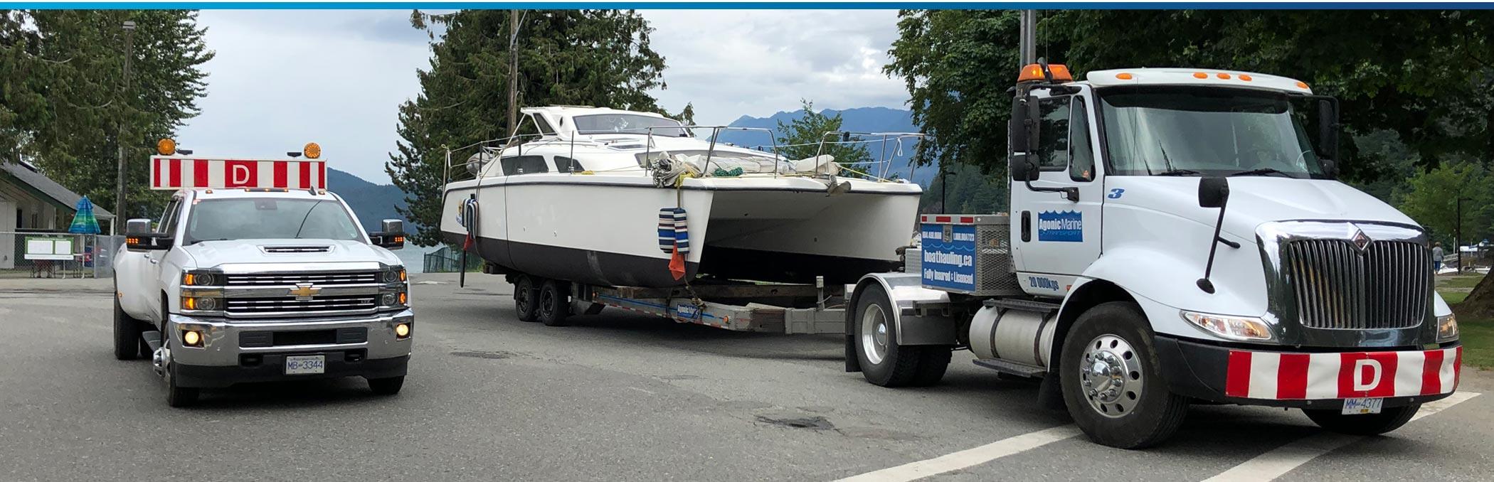 Agonic Marine BC Boat Hauling Service